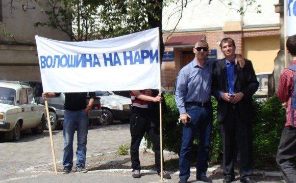 Іван Волошин та організатор платних акцій
