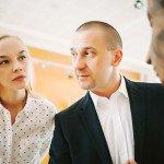 Іван Волошин з дружиною на захисті дипломників ЗХІ