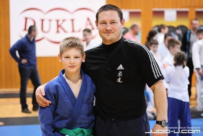 Лев Смагін з батьком-тренером