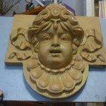 """Реставровані маски для фасаду """"Корони"""""""