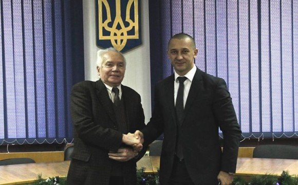 Іван Волошин з легендарним професором Богданом Посацьким