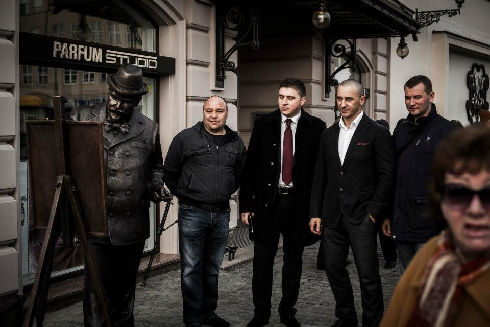 Іван Волошин на відкритті пам'ятника Рошковичу