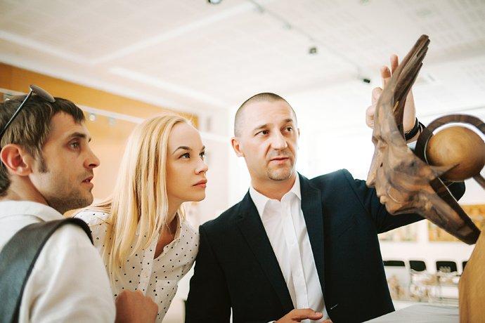 Іван Волошин з дружиною Тамарою в «Галереї Ілько»