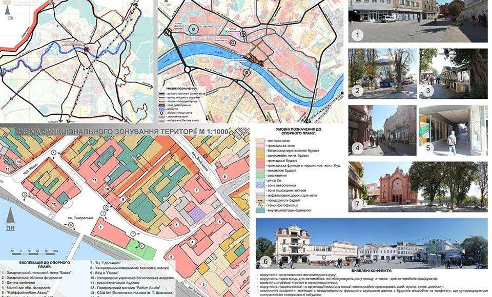 Ідеї молодих львівських архітекторів щодо оновлення історичного центру Ужгорода